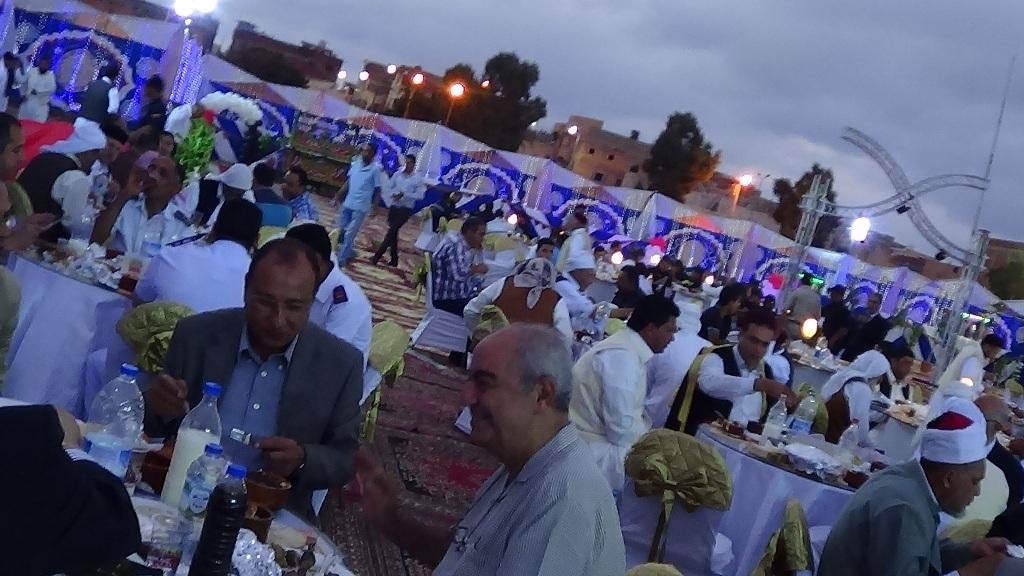 مديرية امن مطروح تنظم افطارا وليلة رمضانية (2)