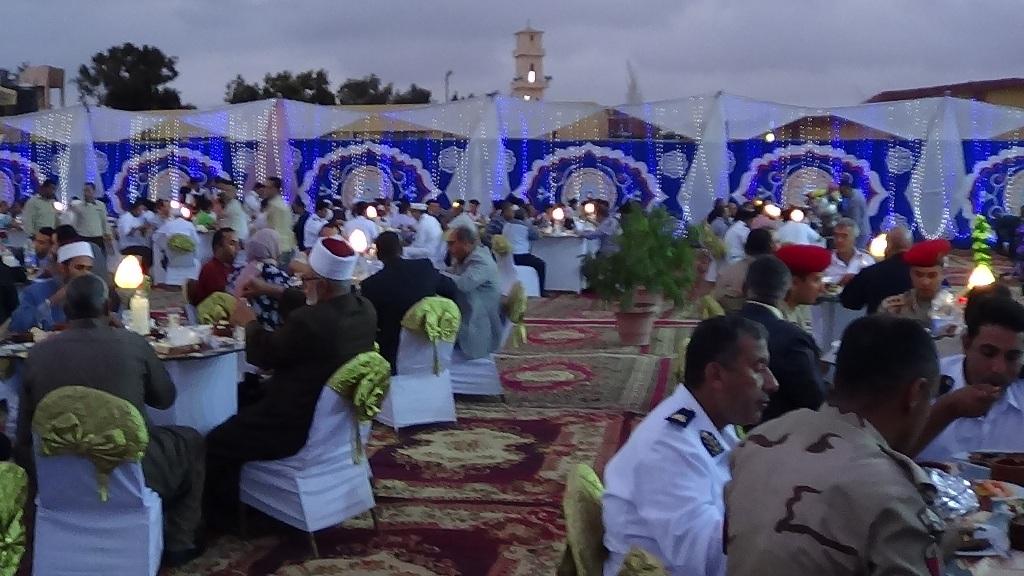مديرية امن مطروح تنظم افطارا وليلة رمضانية (4)