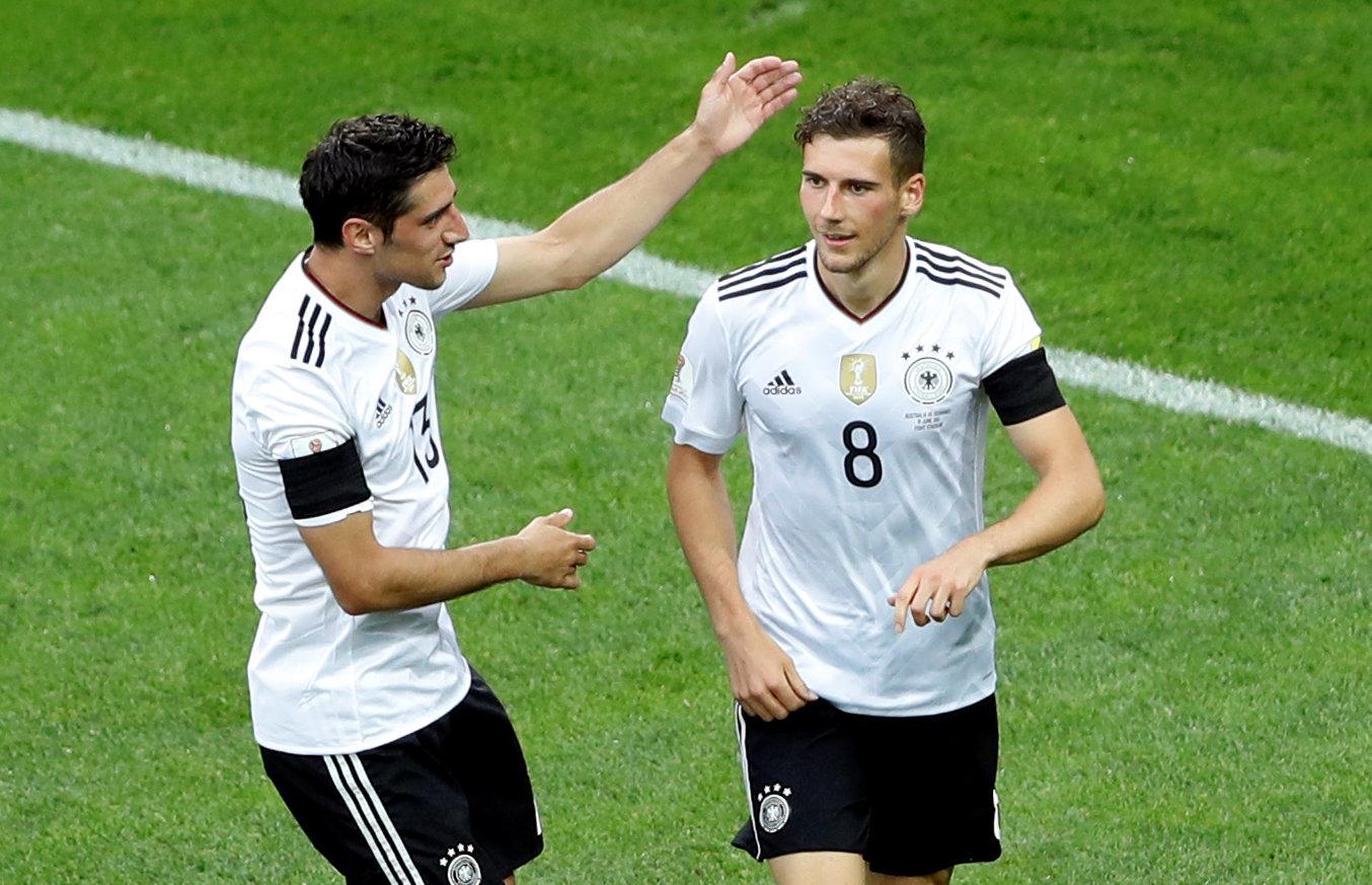 احتفال ألمانيا بالهدف الثالث