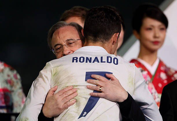 رئيس ريال مدريد مع رونالدو