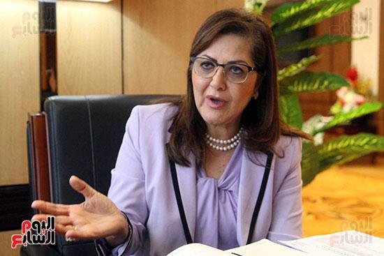 وزيرة التخطيط فى حوار لـاليوم السابع (8)