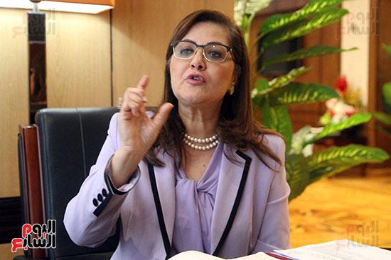 وزيرة التخطيط فى حوار لـاليوم السابع (13)