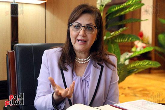 وزيرة التخطيط فى حوار لـاليوم السابع (12)