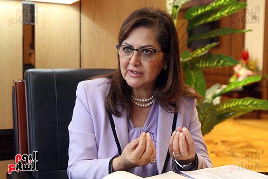 وزيرة التخطيط فى حوار لـاليوم السابع (10)