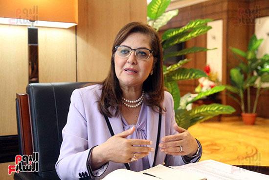 وزيرة التخطيط فى حوار لـاليوم السابع (7)