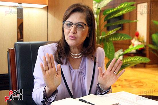 وزيرة التخطيط فى حوار لـاليوم السابع (6)