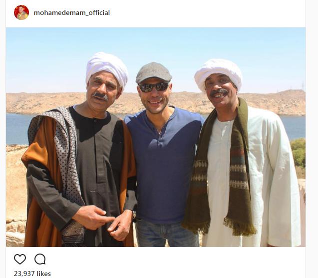 محمد عادل إمام مع محمود البزاوي وسليمان عيد