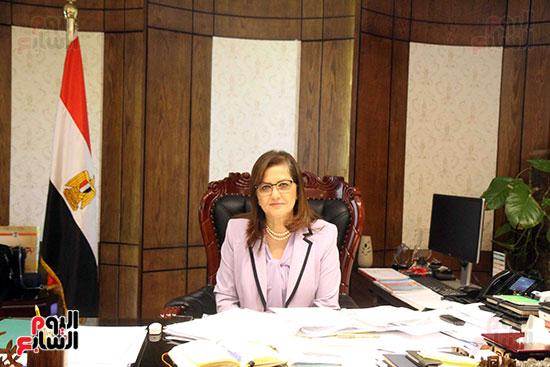 وزيرة التخطيط فى حوار لـاليوم السابع (3)