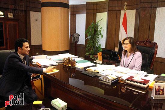 وزيرة التخطيط فى حوار لـاليوم السابع (2)