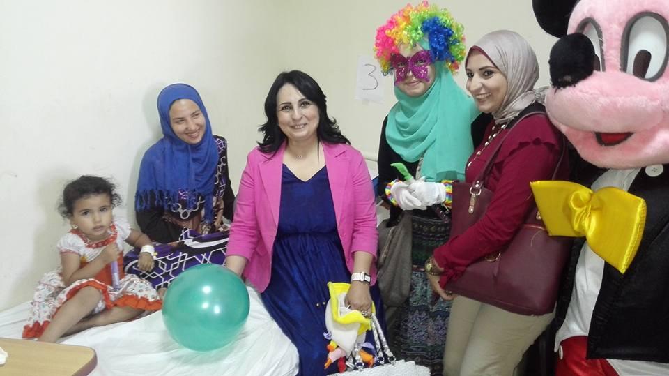 حفل ترفيهى للاطفال من مرضى الكبد بمعهد الكبد القومى بالمنوفية (5)