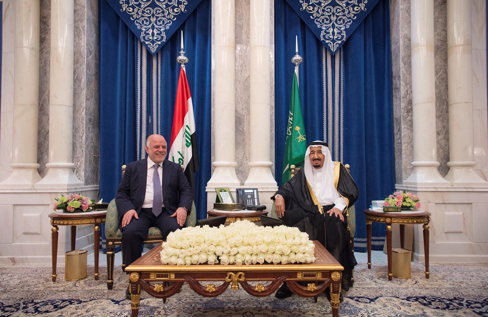 اجتماع بين العاهل السعودى ورئيس وزراء العراق