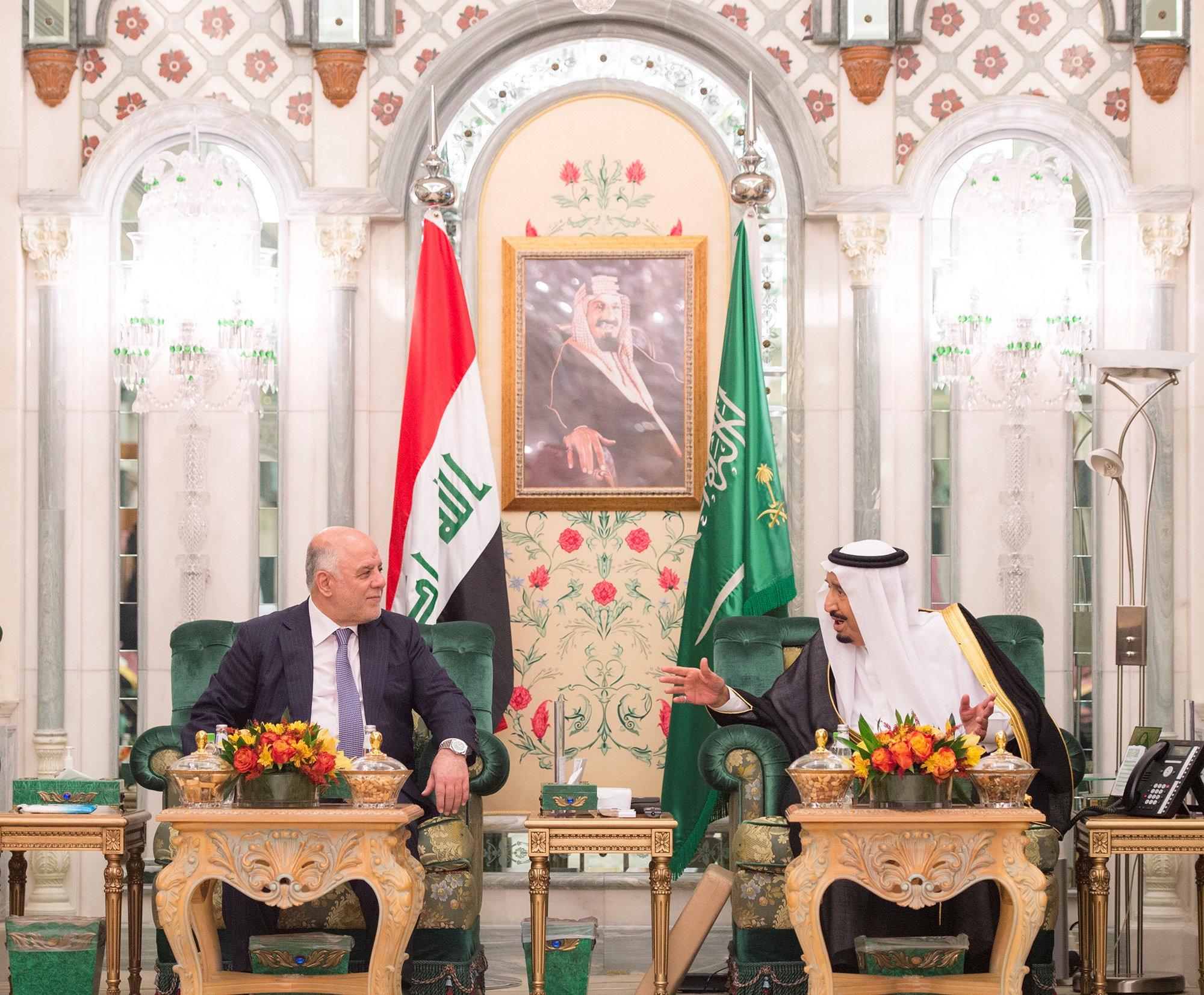 مباحثات بين رئيس وزراء العراق والملك سلمان