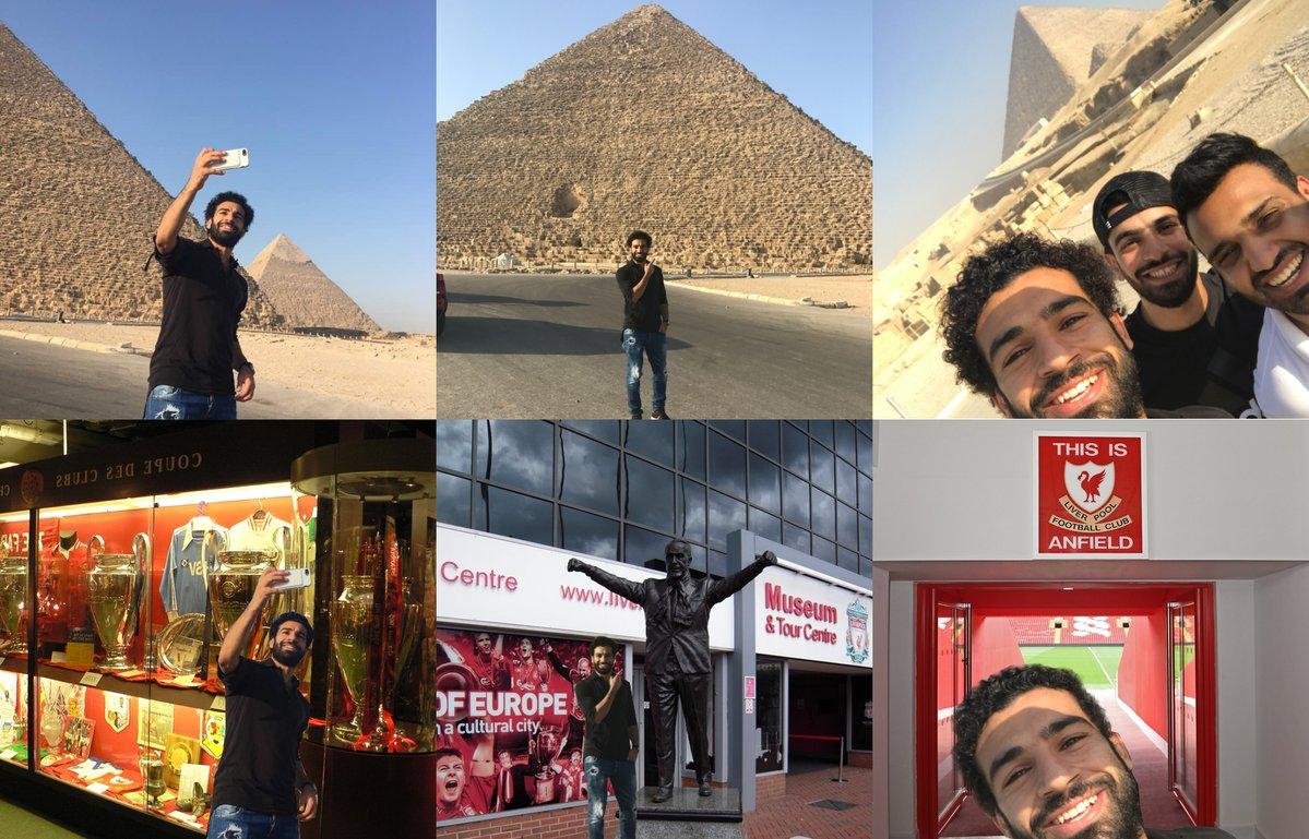 صور صلاح مع الأهرامات تم تحويلها بالفوتوشوب