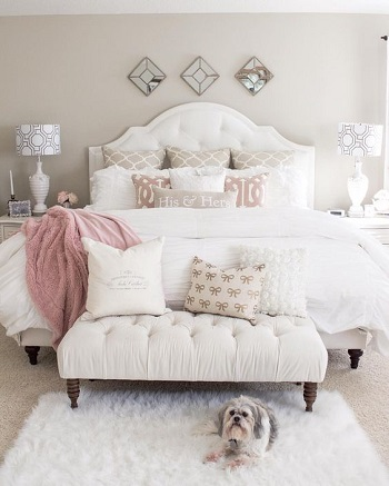 بالصور..غرف نوم باللون الأبيض لعشاق الأناقة والهدوء   اليوم السابع
