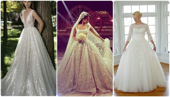 1ce3f8f6ee3fd لعروسة العيد لو بتحبى المنفوش..10 فساتين زفاف اختارى اللى يناسبك ...