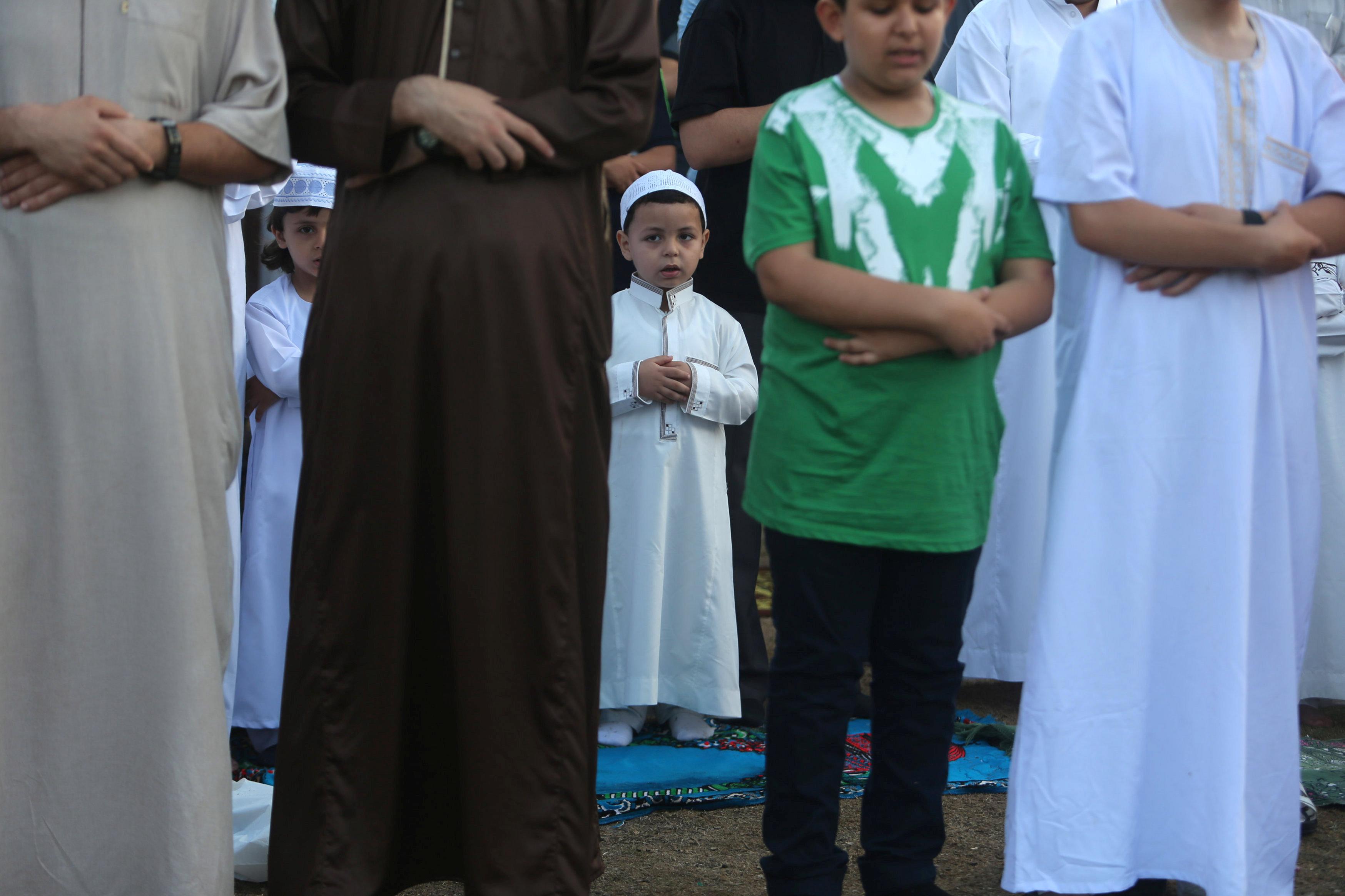 مشاركة الاطفال فى صلاة عيد الفطر