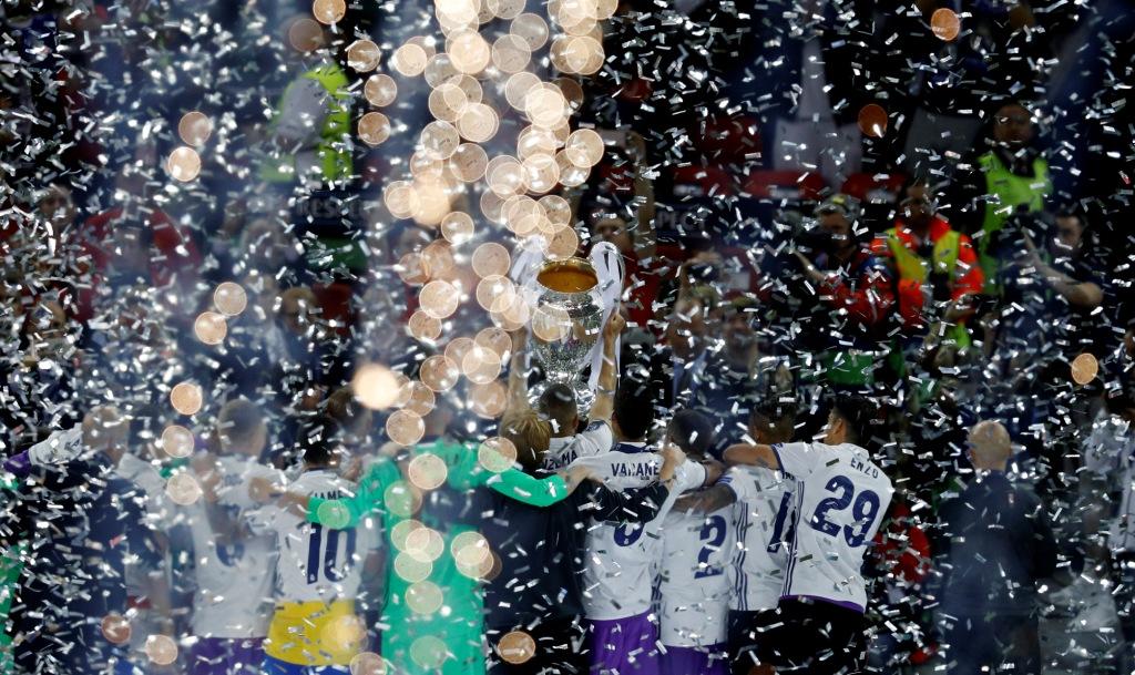 احتفال نجوم ريال مدريد