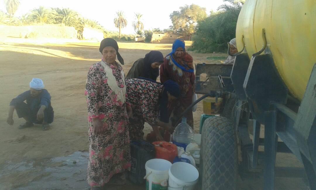 مياه ملوثة ولا تصلح للشرب