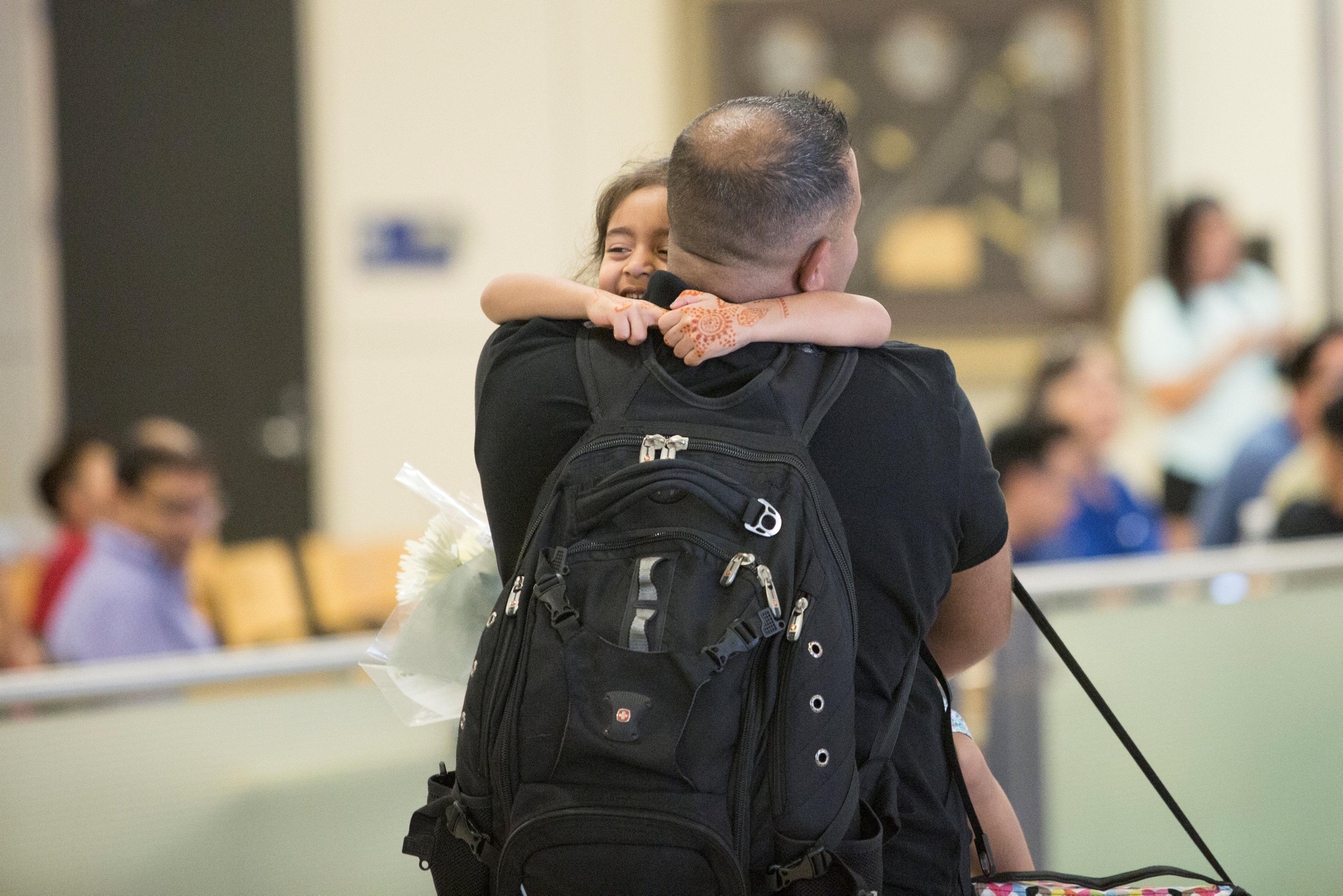 مهاجر يصل إلى الولايات المتحدةى