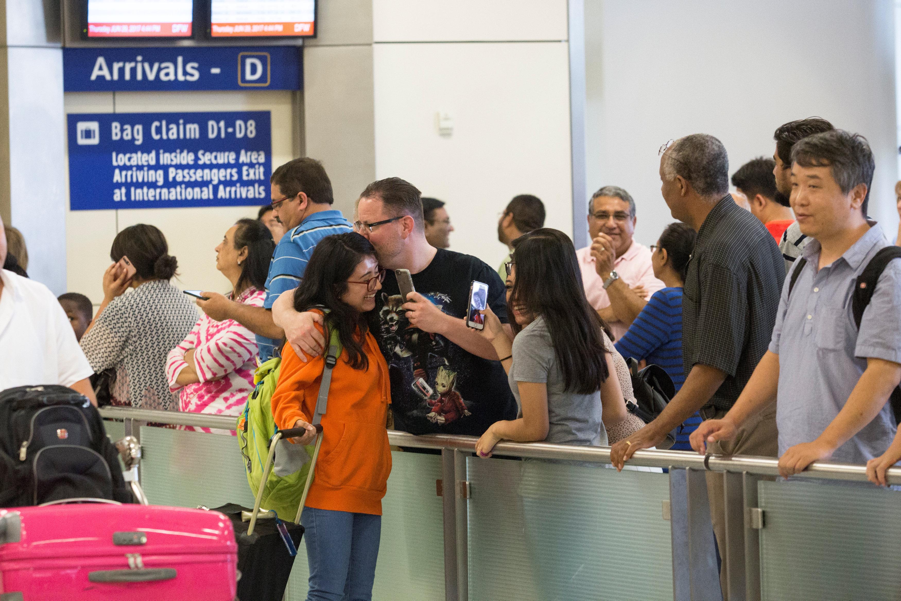 وصول مهاجرين إلى أمريكا