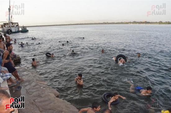 النيل يشهد تجمعات يومية بالاقصر