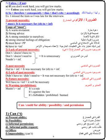 مراجعة ليلة الامتحان فى اللغة الانجليزية (6)