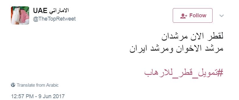 تعليقات المغردين على هاشتاج تمويل قطر للارهاب (3)