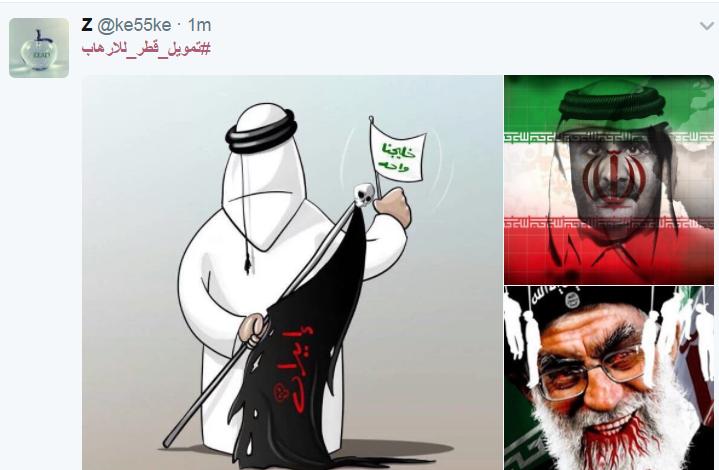 تعليقات المغردين على هاشتاج تمويل قطر للارهاب (1)