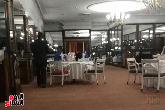 الزمالك فى مطعم فندق الإقامة بزيمبابوى