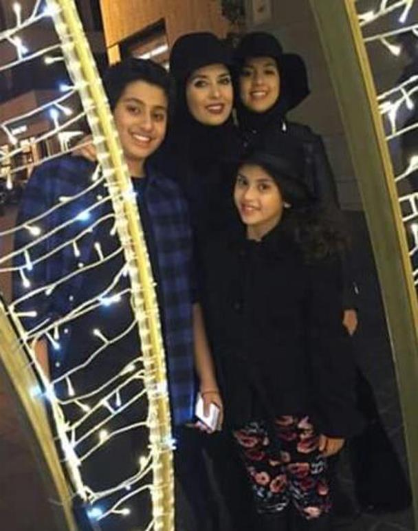 جيهان نصر فى أحدث صورة لها مع أبنائها