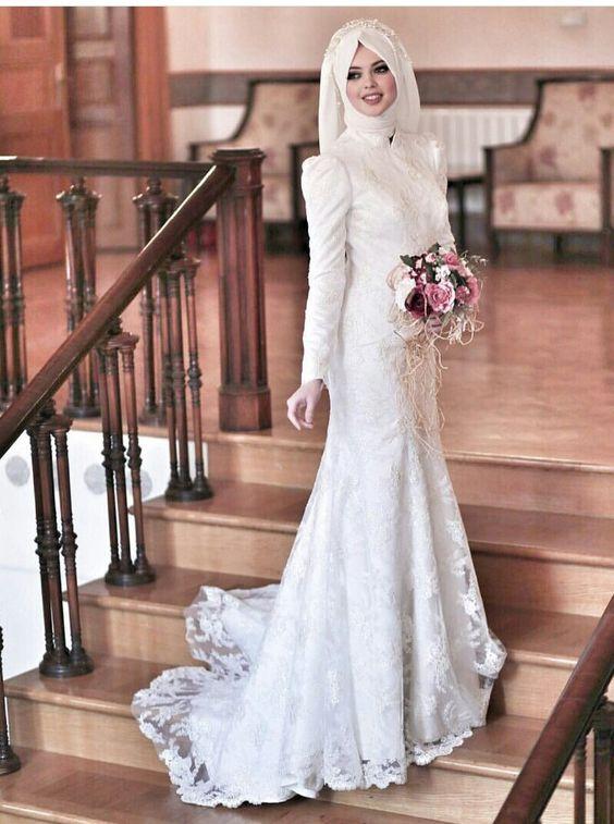 موضة فساتين زفاف المحجبات