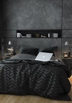 غرفة نوم سوداء