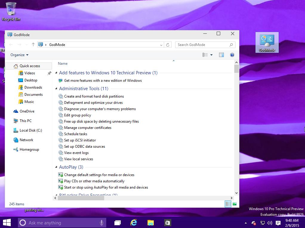 windows-10-godmodeوضع ويندوز