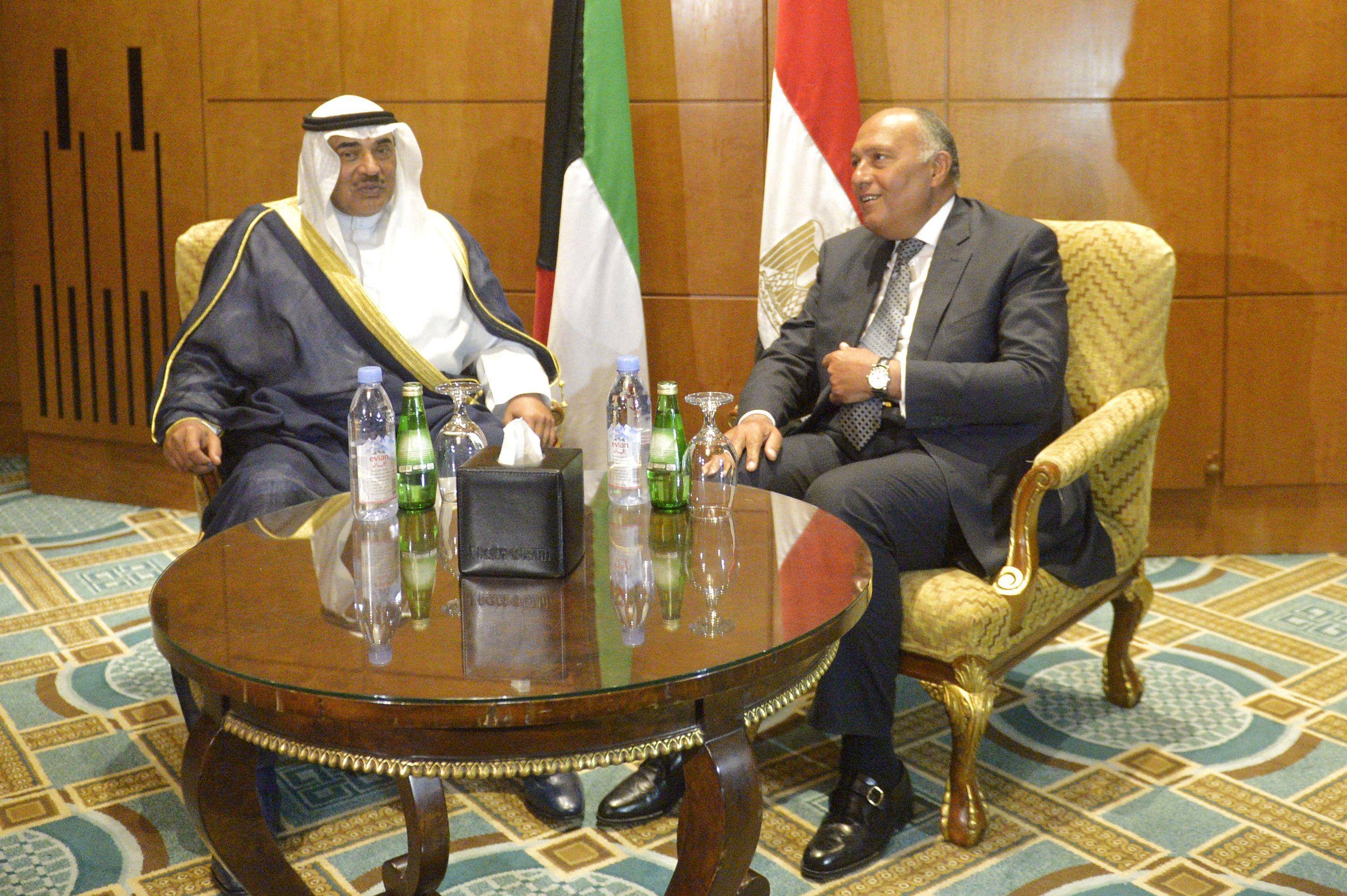 وزيرا خارجية مصر والكويت يبحثان التعاون المشترك