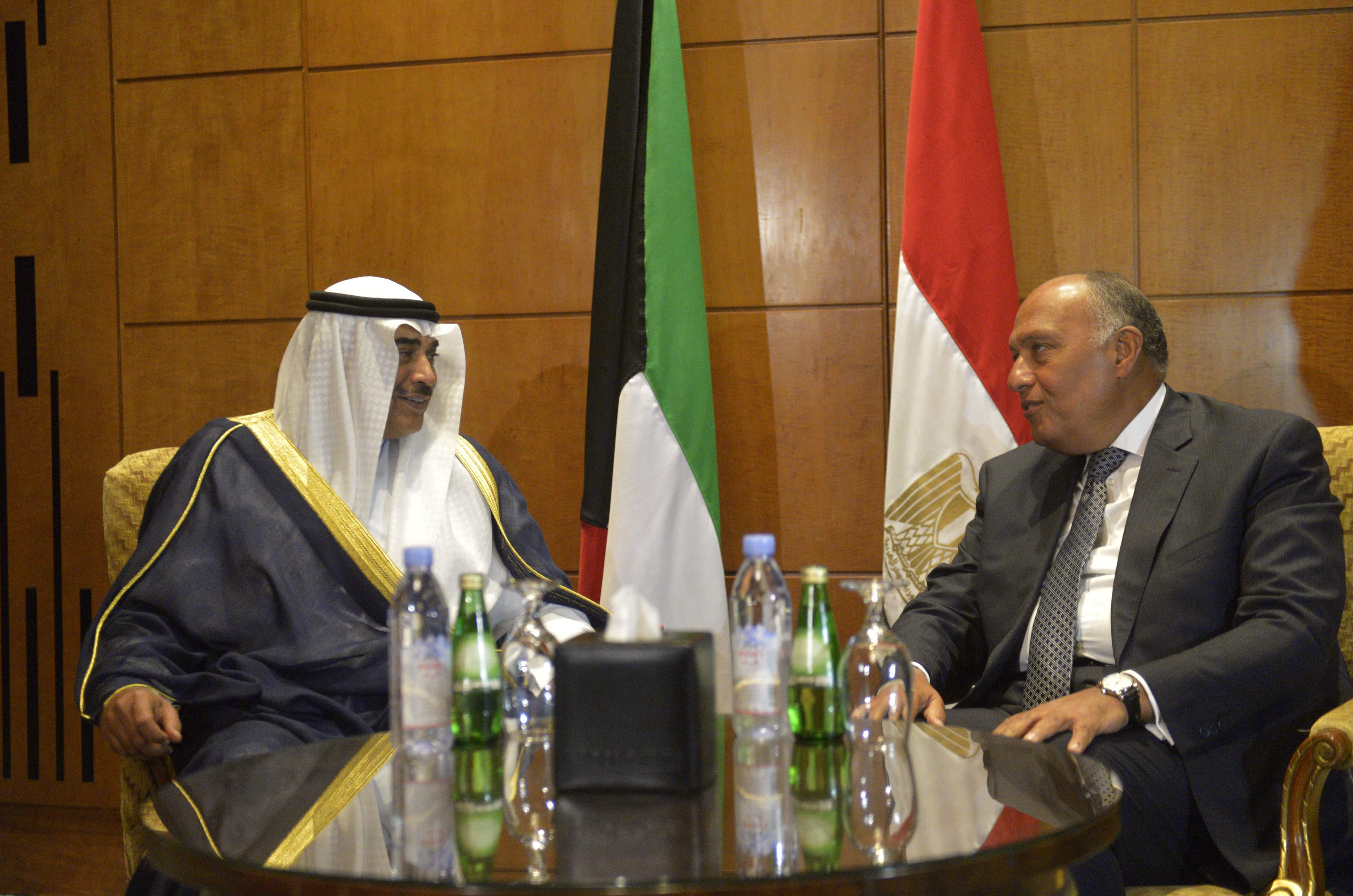 مباحثات ثنائية بين وزيرى خارجية مصر والكويت