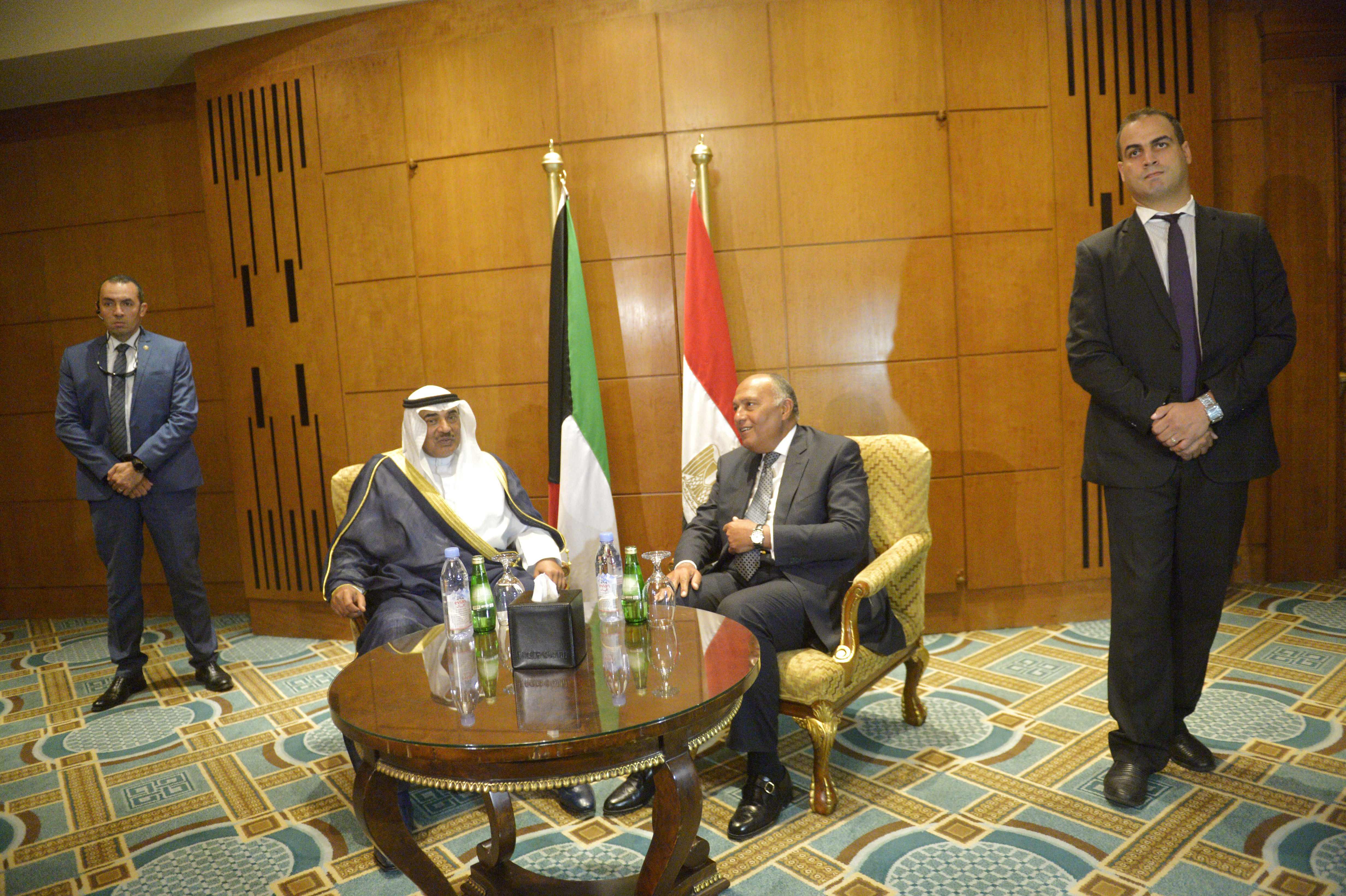 لقاء بين وزيرى خارجية مصر والكويت