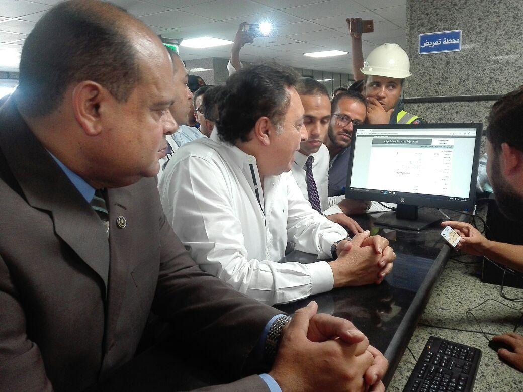 وزير الصحة ومحافظ مطروح يتفقدان مستشفى النجيلة  (4)