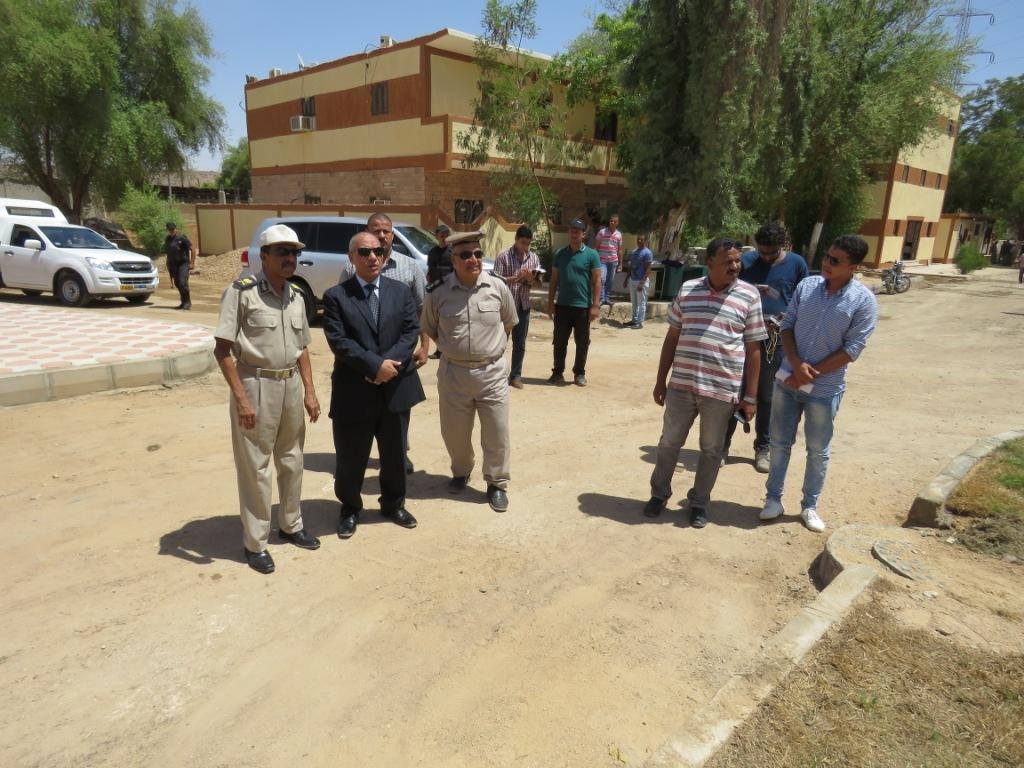 مدير أمن أسوان يتفقد الإنشاءات الجديدة بإدارة قوات الأمن (1)