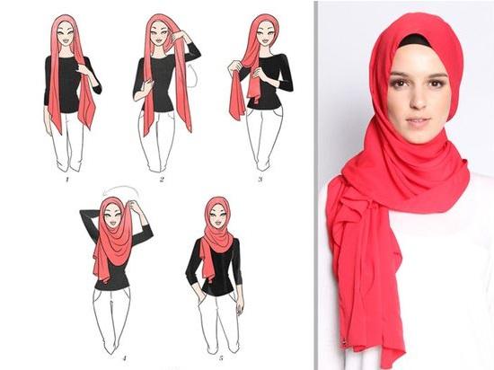 021eba1d36760 5 أفكار سهلة للحجاب لو بتفكرى تجربى لفات طرح جديدة - اليوم السابع