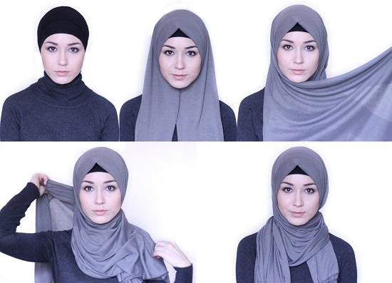 f426a38a09902 5 أفكار سهلة للحجاب لو بتفكرى تجربى لفات طرح جديدة - اليوم السابع