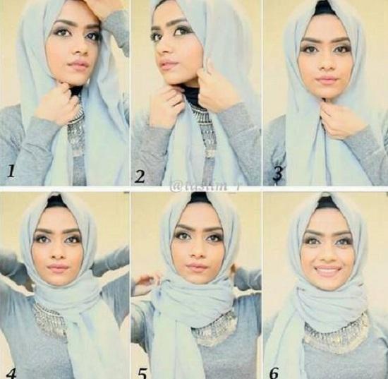8eb7c62aa2748 5 أفكار سهلة للحجاب لو بتفكرى تجربى لفات طرح جديدة - اليوم السابع