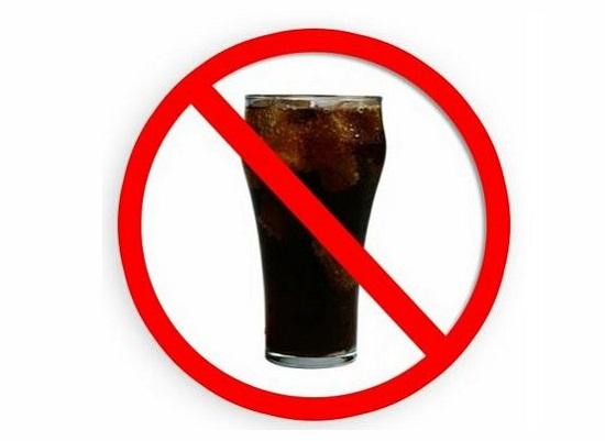 المشروبات الغازية ممنوعة