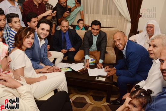 عقد قران نجم مسرح مصر مصطفى خاطر فى حفل عائلى (6)