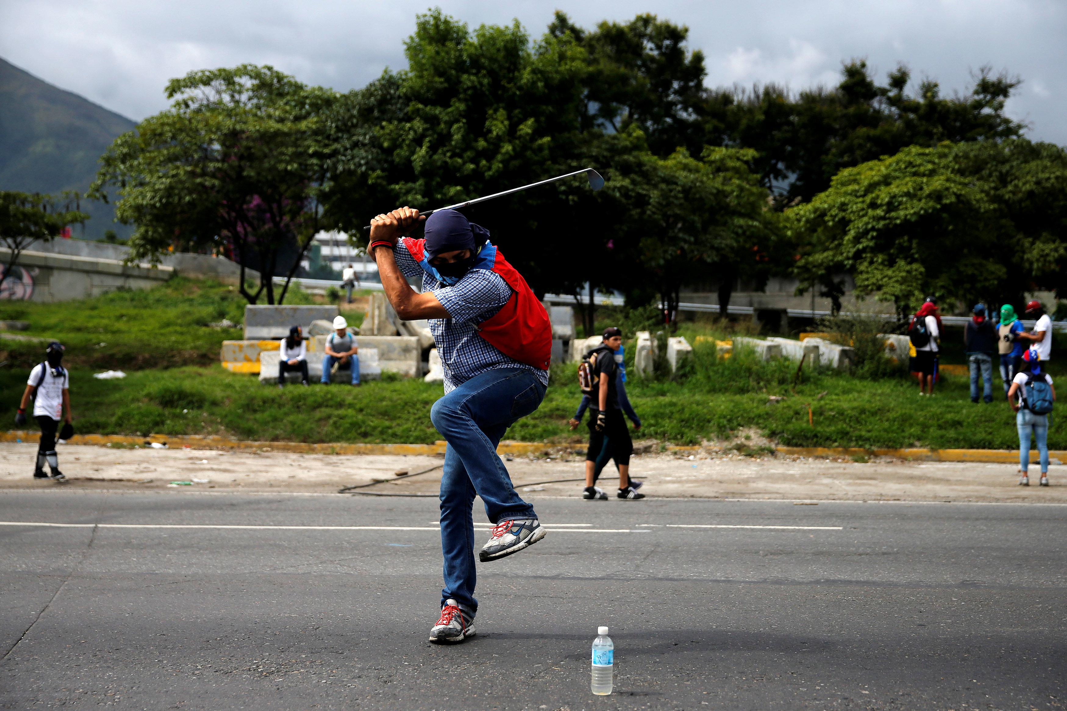 جانب من الاحتجاجات فى فنزويلا