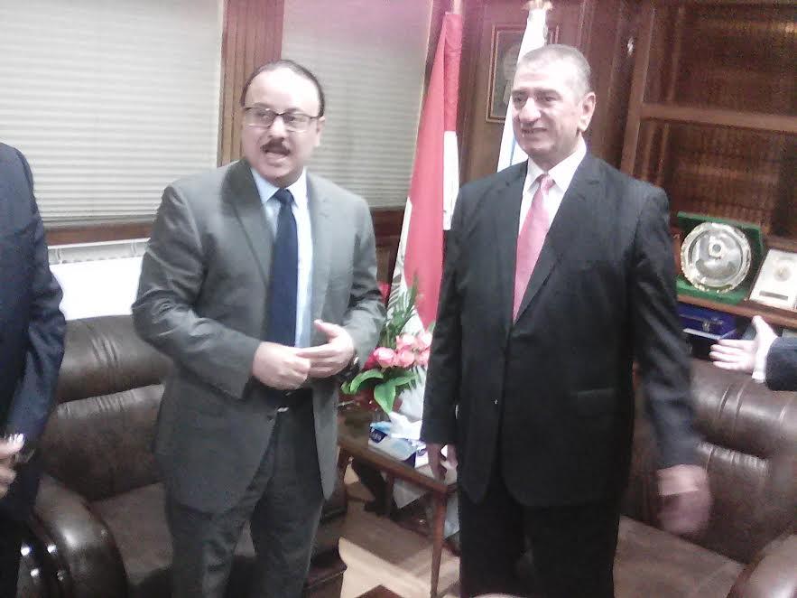 محافظ كفر الشيخ ووزير الإتصالات