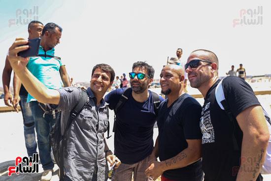 روبرتو كارلوس ونجوم منتخب البرازيل فى زيارة خاصة للأهرامات (21)