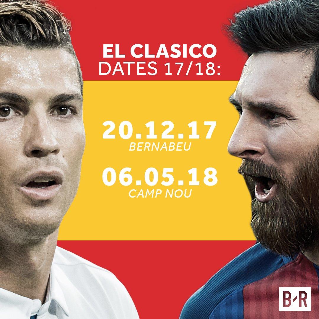 موعد مباراتى الكلاسيكو بين ريال مدريد وبرشلونة فى الدوري الاسباني