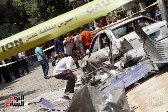 أسطوانة غاز داخل أحد المطاعم وراء انفجار المعادى (3)
