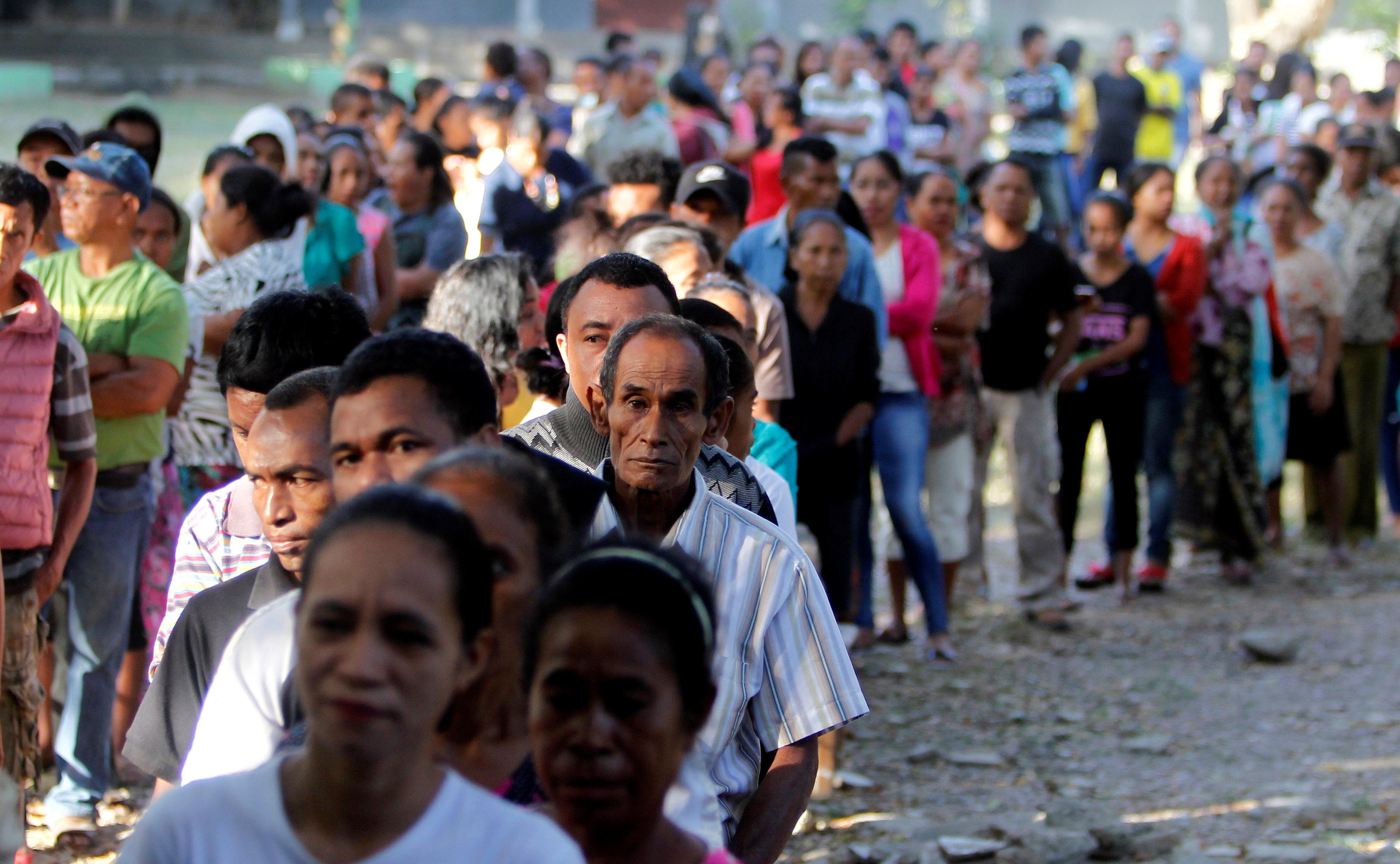 طابور الاقتراع فى تيمور