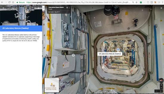 جوجل تنشر خدمة أول مجموعة صور من الفضاء تسمح باستكشاف محطة فضاء افتراضيا (6)